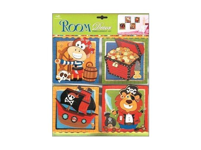 Dětská dekorace na zeď piráti