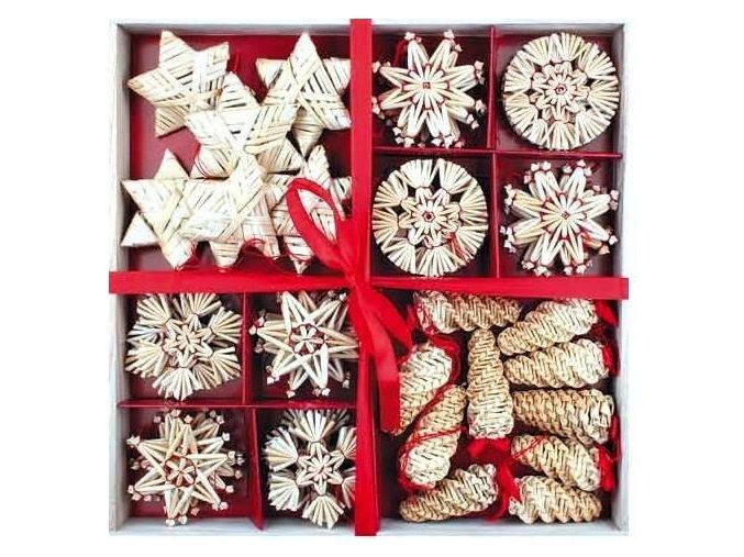 Vánoční ozdoby slaměné