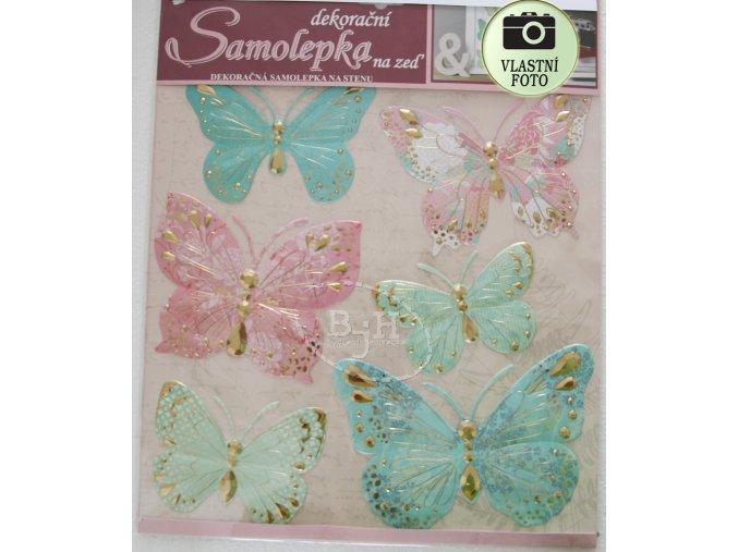Samolepící dekorace na zeď s motýli