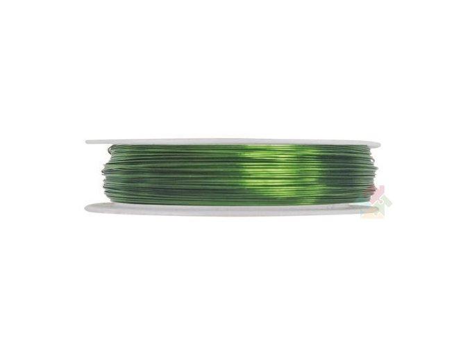Vázací drátek zelený