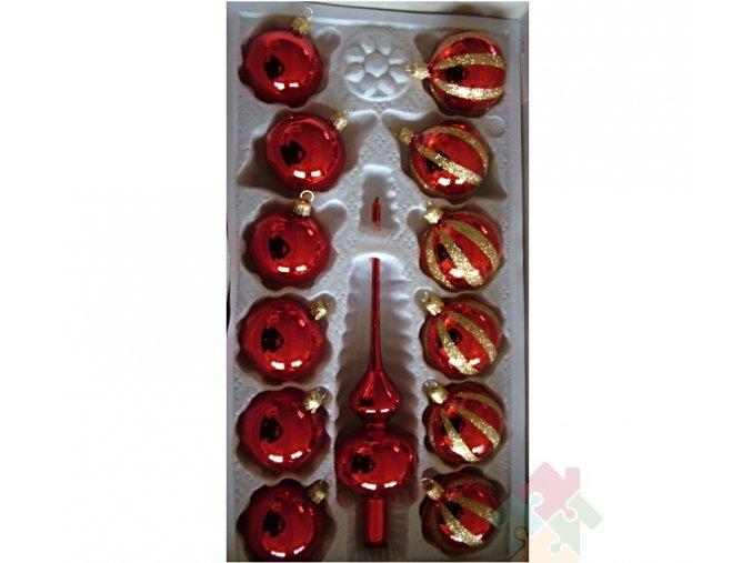 vánoční ozdoby červeno zlaté