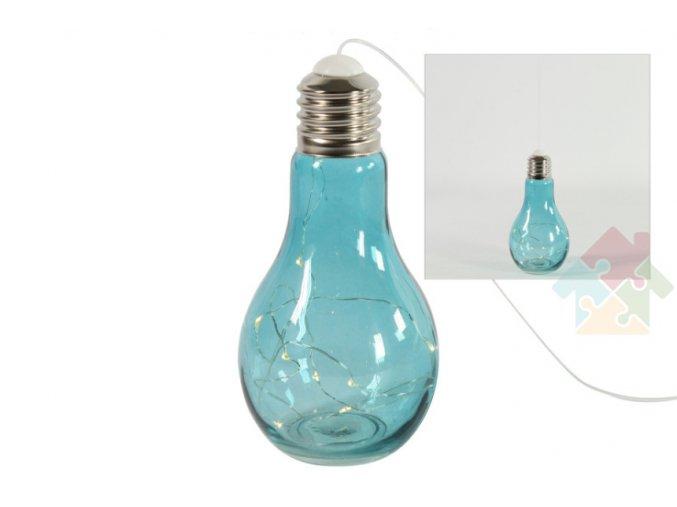 modrá LED žárovka