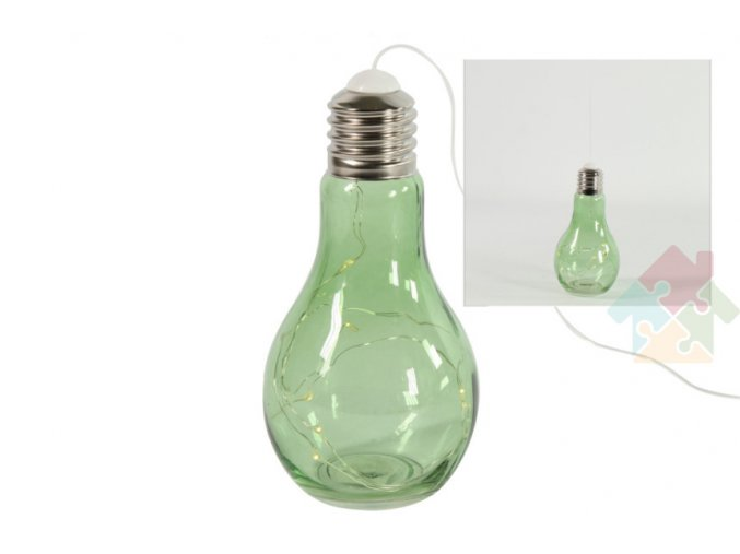 zelená LED žárovka