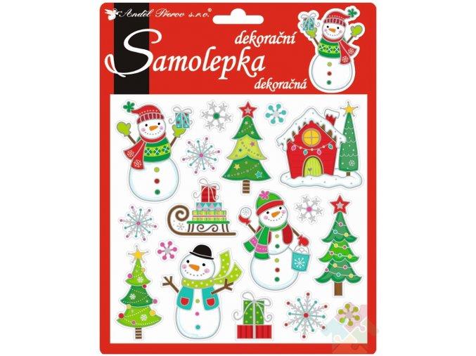 vánoční samolepky dekorativní