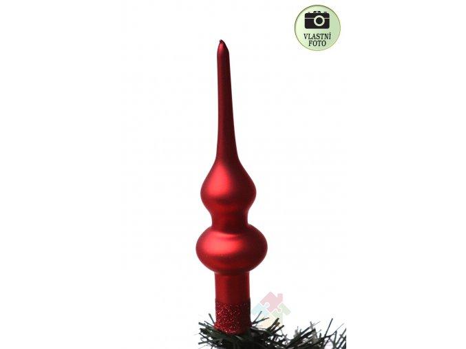 červená špice vánoční matná