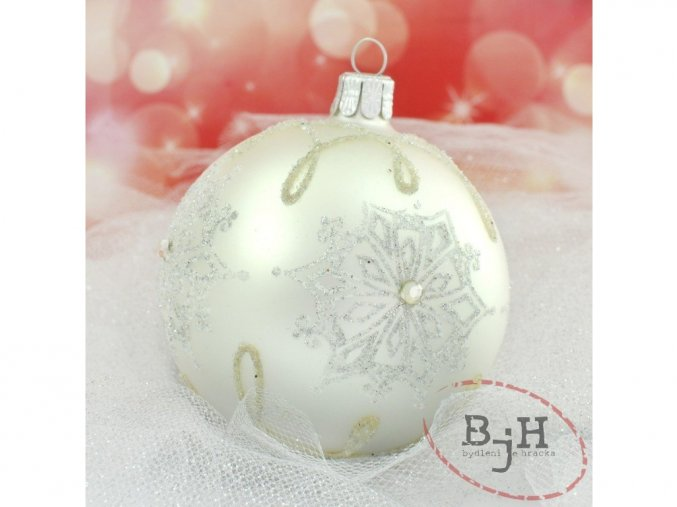 skleněná vánoční ozdoba