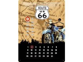 Plechový kalendář - Route 66