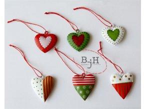 Vánoční ozdoby - sada 6 kusů