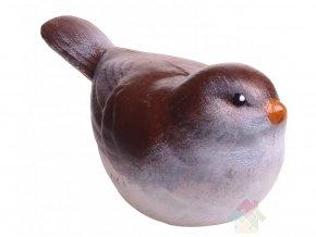 keramický ptáček hnědý