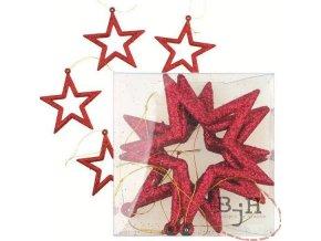 Vánoční ozdoby - červené hvězdy