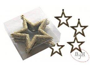 Vánoční ozdoby - zlaté hvězdy