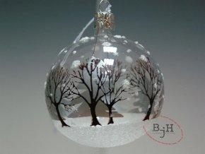Vánoční skleněná baňka - sada 6 kusů
