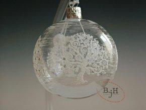 Vánoční skleněné baňky - 4 kusy