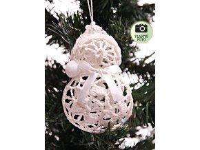 Vánoční ozdoba - sněhuláček