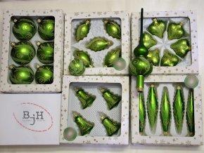 vánoční ozdoby zelené