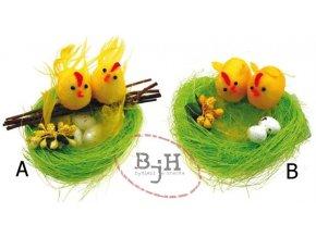 Velikonoční dekorace - zelené hnízdo