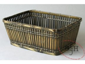 Bambusový košík tmavý