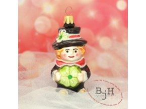 Skleněné vánoční ozdoby - kominík
