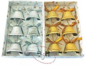 Vánoční zvonečky - 6 kusů