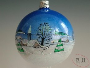 Vánoční skleněné baňky