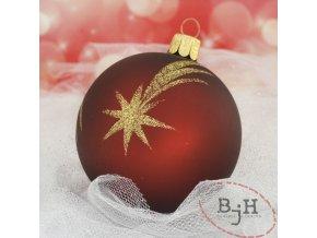 Skleněné vánoční ozdoby - 6 kusů