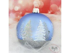 vánoční skleněné ozdoby