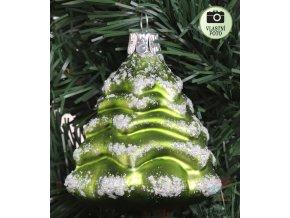 Vánoční ozdoba stromeček s dárky - balení 6 kusů