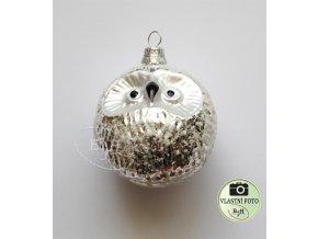 Skleněné vánoční ozdoby stříbrné