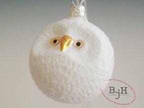 Skleněné vánoční ozdoby bílé