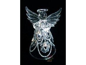 skleněný anděl 3526