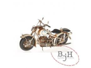 Bílá motorka
