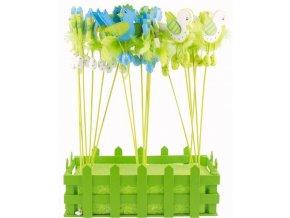 Velikonoční výzdoba -ptáčci zápich do květináče