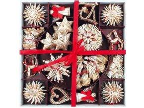 Slaměné vánoční dekorace