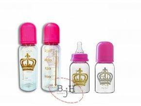 Kojenecká lahev královna - sada 2 kusů