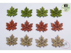Podzimní dekorace velké listy