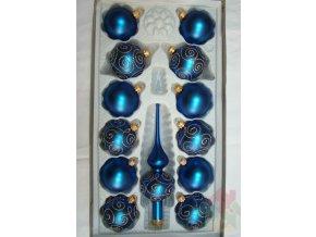 vánoční skleněne ozdoby modré