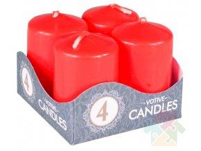 adventní svíčky červené
