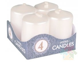 adventní svíčky bílé perleťové