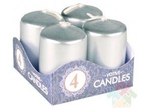 adventní svíčky stříbrné