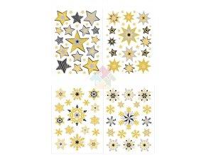 Třpytivé hvězdy do oken