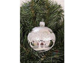 skleněné vánoční ozdoby