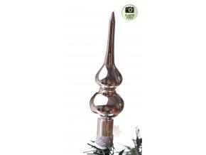 stříbrná špice na vánoční stromeček