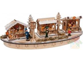 vánoční dekorace svítící náměstí