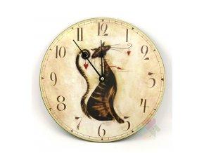 hodiny s kočkou