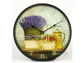 hodiny s levandulí