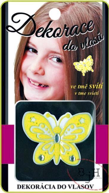 Dekorace do vlasů Popis: Dekorace motýl