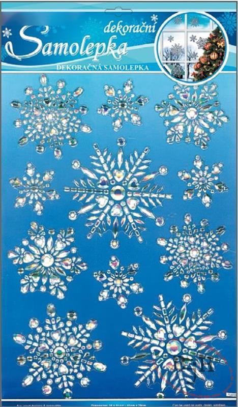 Samolepící zimní dekorace