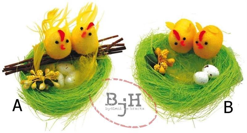 Velikonoční dekorace - zelené hnízdo Popis: Hnízdo A