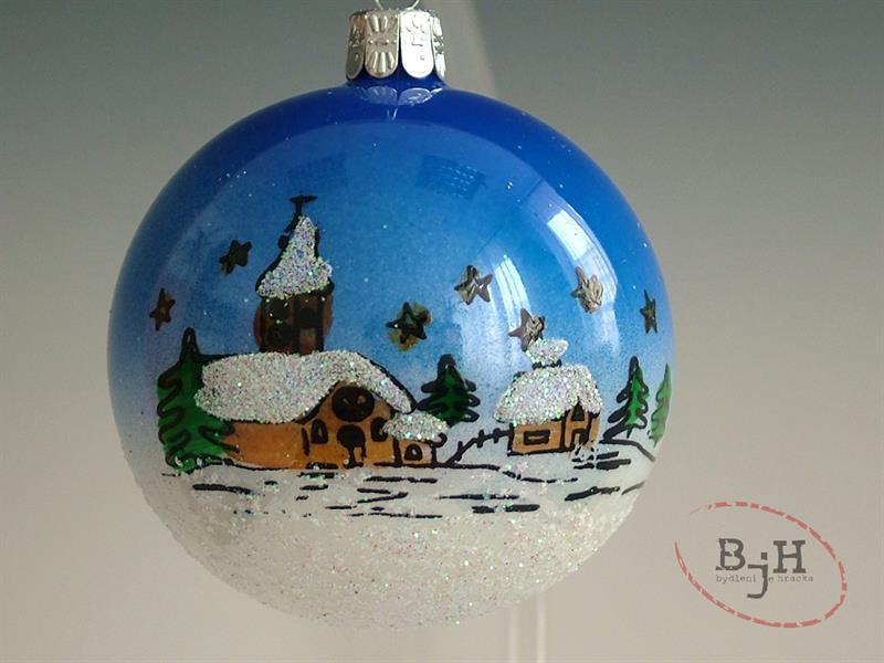 Český výrobce Vánoční skleněné baňky Popis: Vánoční baňky, průměr 8 cm, balení 3ks baněk