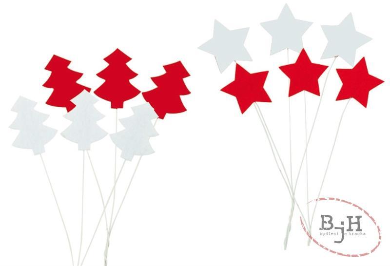 Vánoční ozdoby Popis: bílé hvězdičky